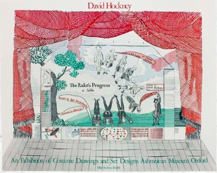 David Hockney, David Hockney Original Poster 'The Rake's Progress Ashmolean', 1981