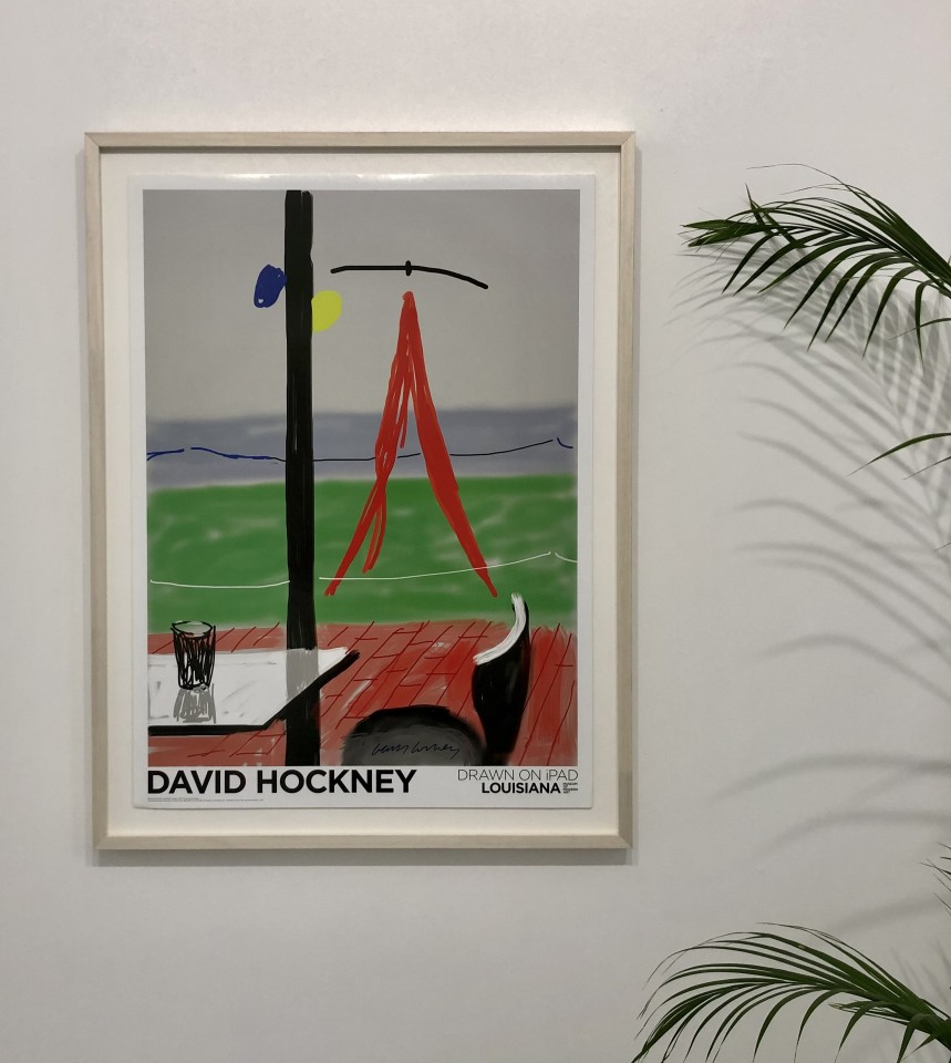 David Hockney, Hand Signed, Untitled, iPad. Louisiana Denmark, 2009
