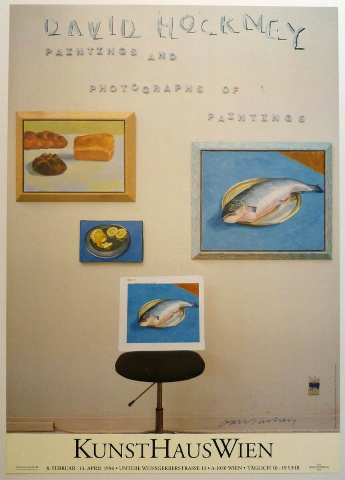 David Hockney, Hand Signed 'David Hockney Paintings and Photographs of Paintings', 1996