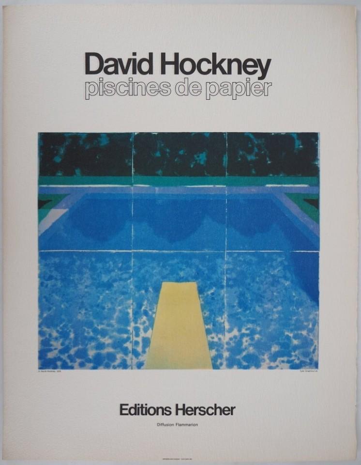 David Hockney, 'Piscine Avec Les Trois Bleus' , 1980