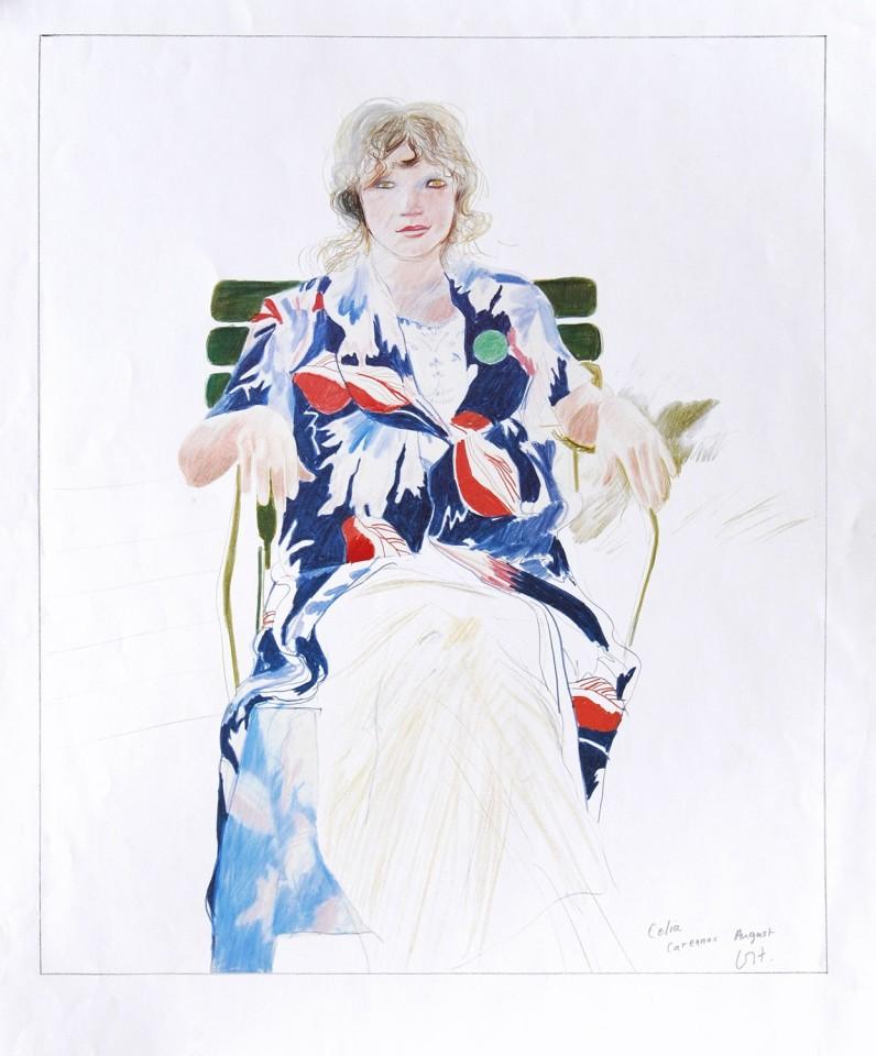 David Hockney, Celia in Carennac, 1984