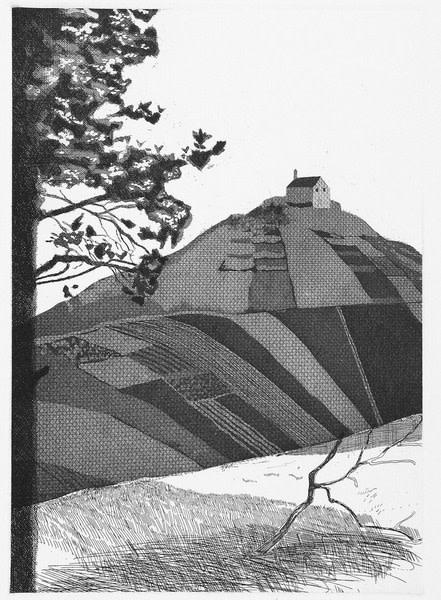 David Hockney, A Wooded Landscape (Fundevogel), 1969