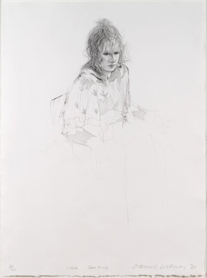 David Hockney, Celia Smoking , 1973