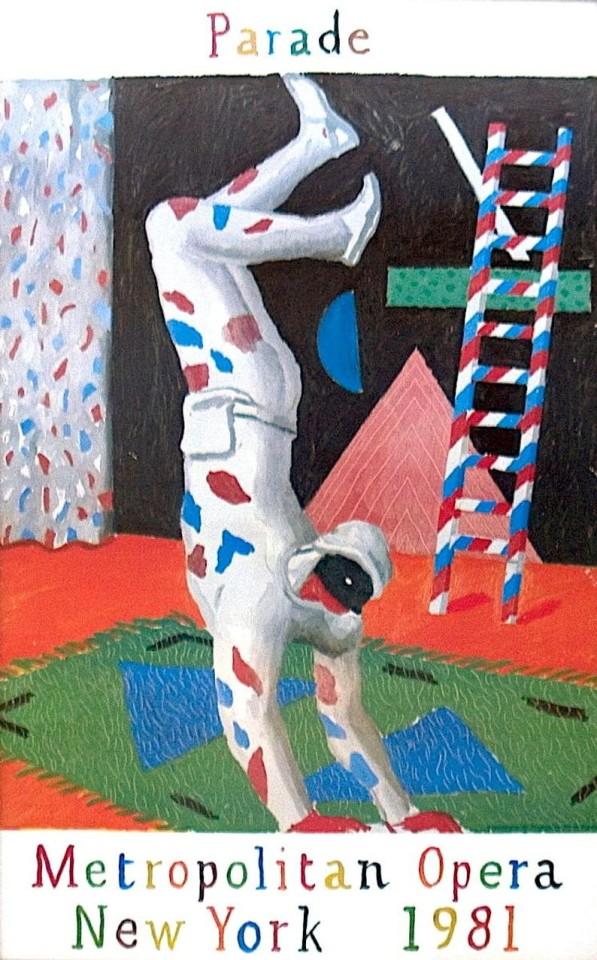David Hockney, David Hockney 'Parade' Poster 1981 , 1981