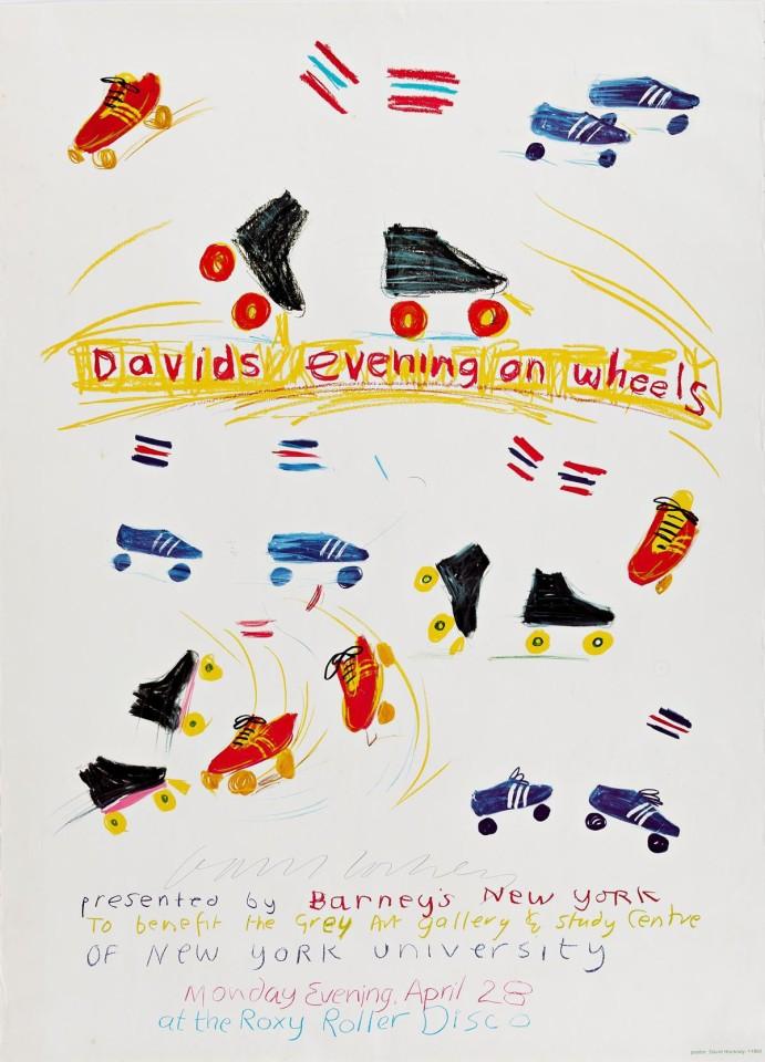 David Hockney, Hand Signed Evening on Wheels , 1980