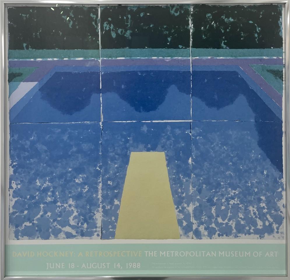 David Hockney, David Hockney 'Day Pool with Three Blues', 1988