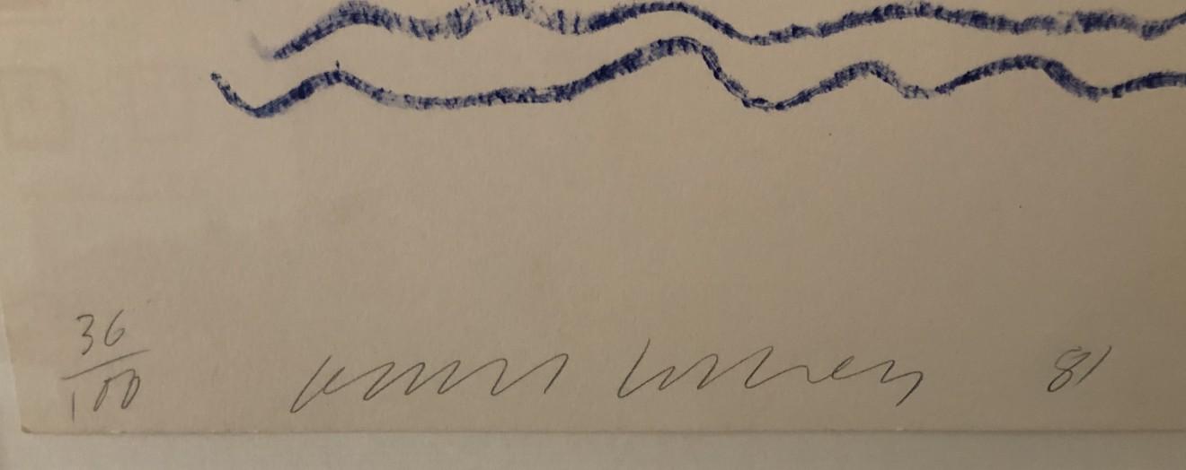 david hockney, David Hockney Signed Original Poster 'Ojai Festival', 1981