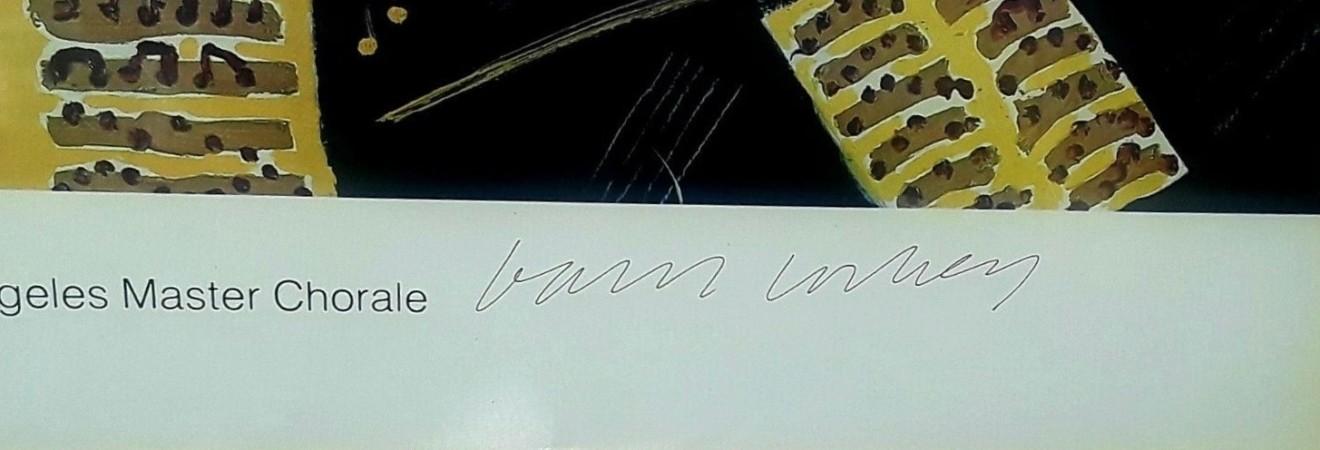 David Hockney, HAND SIGNED Los Angeles Music Center Fund, 1981