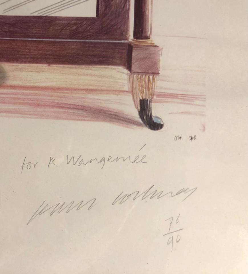 David Hockney, Hand Signed Mirror, Casa Santini, Lucca., 1973