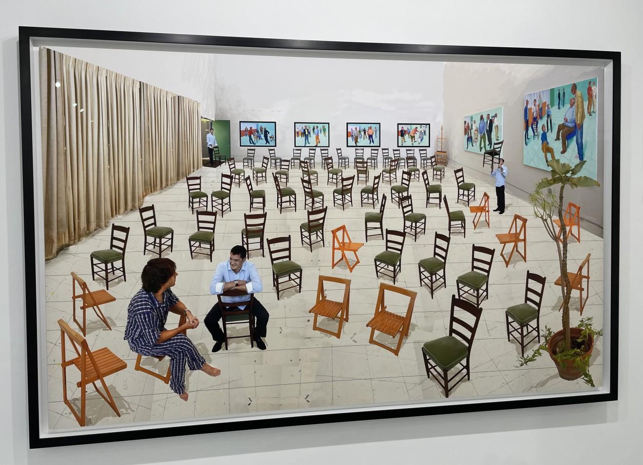 David Hockney, The Chairs, 2014