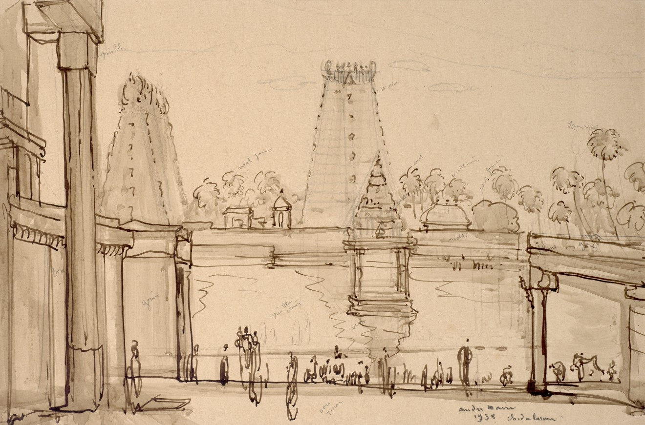 50. André Maire (1898 - 1987), Chidambaram Temple, 1938