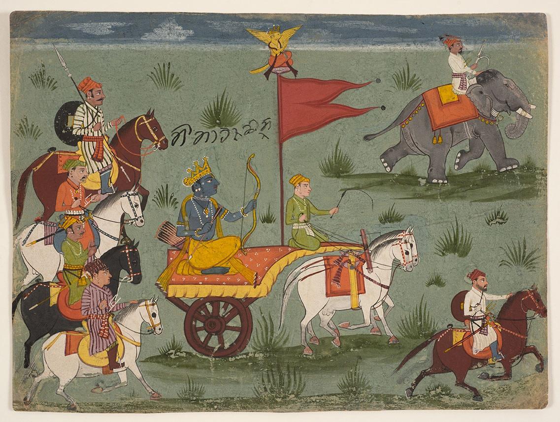 An Illustration to a Mahabharata Series