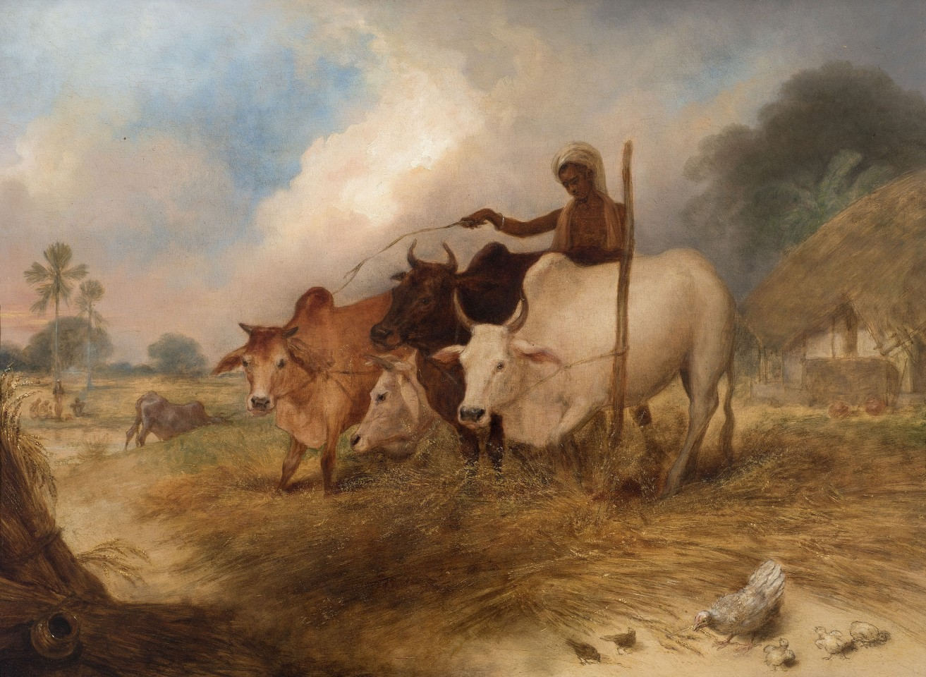 15. Arthur William Devis (1762-1822), Ploughing , c. 1792 - 1795