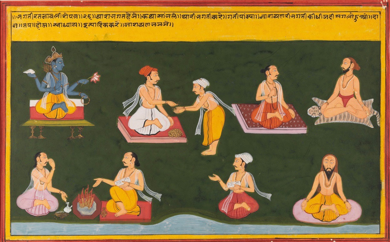 AN ILLUSTRATION TO A BHAKTI RATNAVALI SERIES
