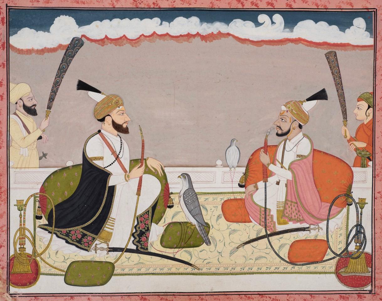 Raja Surma Sen of Mandi and Raja Teg Chand of Kangra