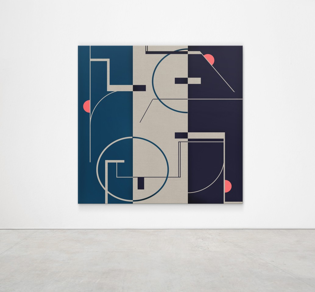 E-1027 (Eileen Gray) Triptych panel / screen, 2016