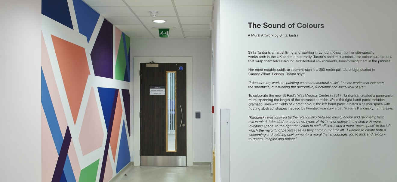 The Sound of Colours, St Paul's Way Medical Centre, London, 2017