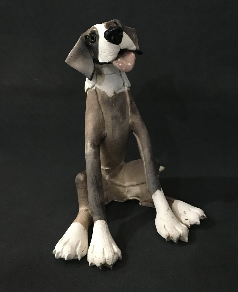 Virginia Dowe Edwards, Large Sitting Dog