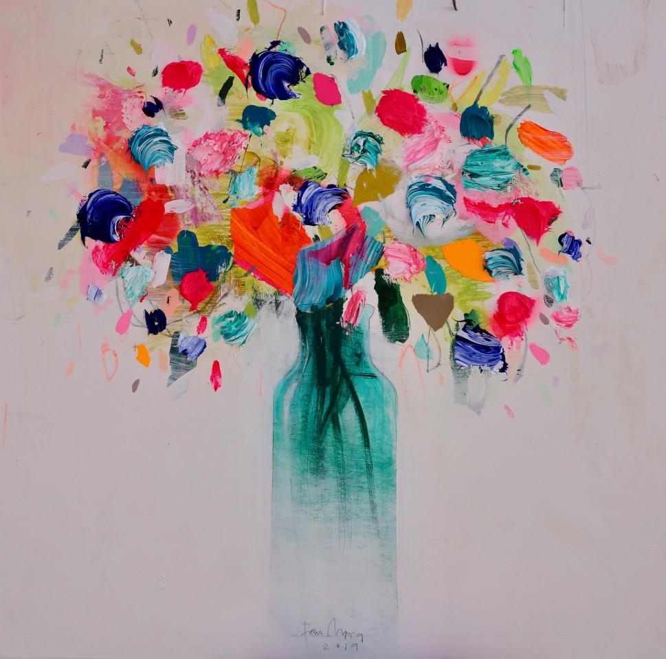 Fran Mora, Vibrant Flowers No.1, 2019