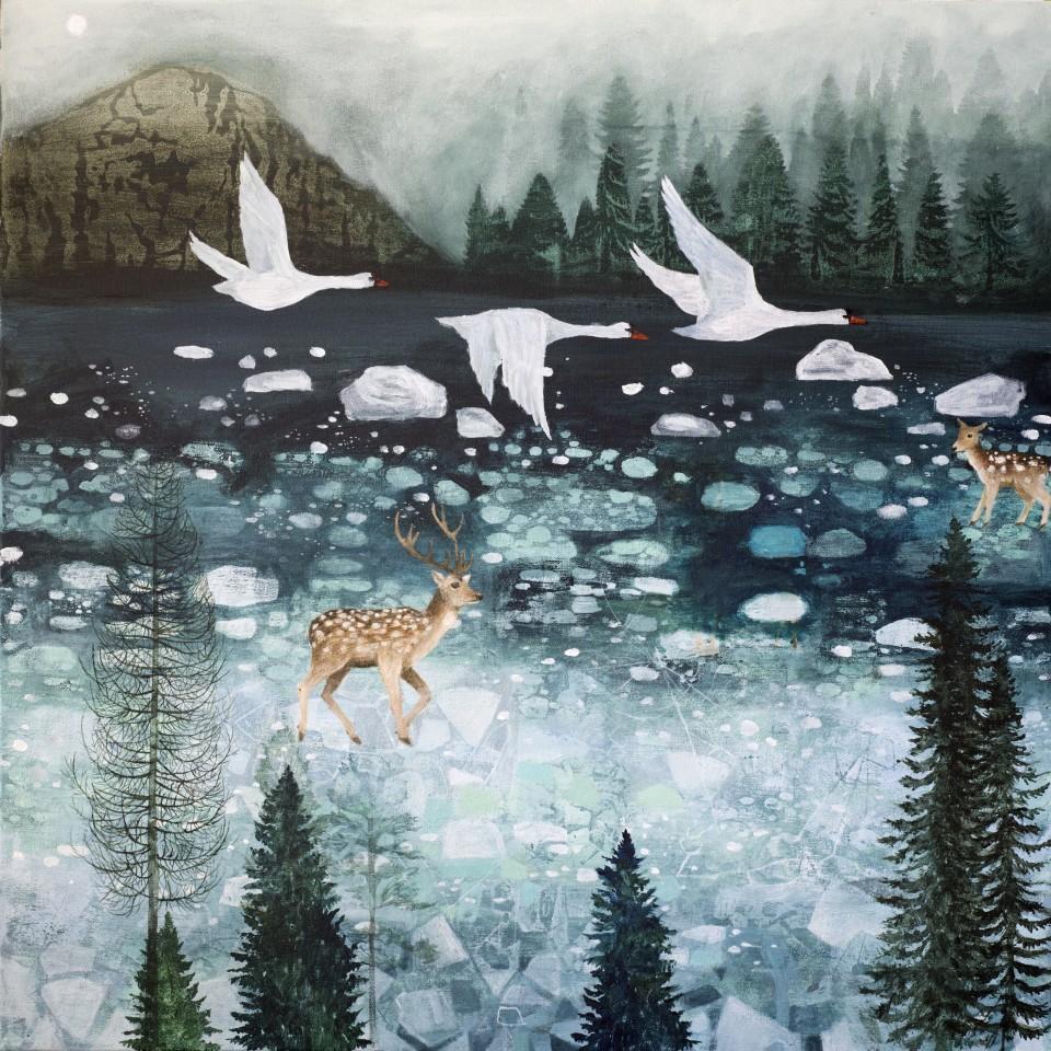 Dawn Stacey, Frozen Lake , 2018