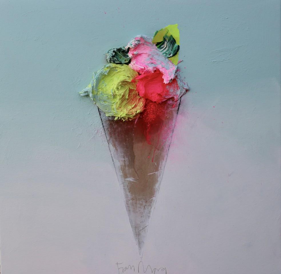 Fran Mora, Ice cream (Helado) 60x60cm, 2020