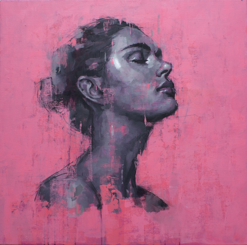 Jamel Akib, Portrait on Pink No.1, 2021