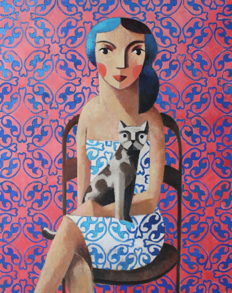 Didier Lourenço, Cat & Woman, 2020