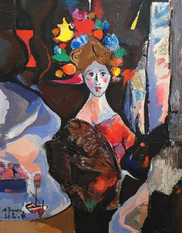 Miguel Torner De Semir, Woman with Boat, 2016