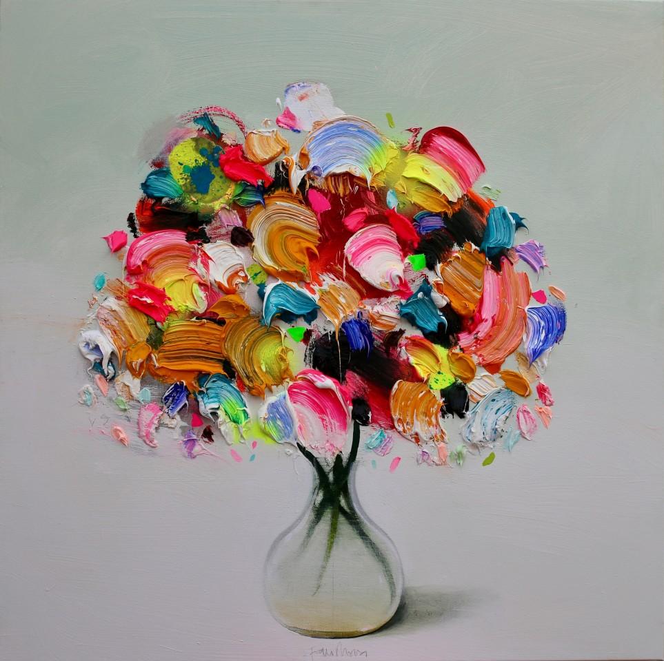 Fran Mora, Textured Summer Flowers, 2019