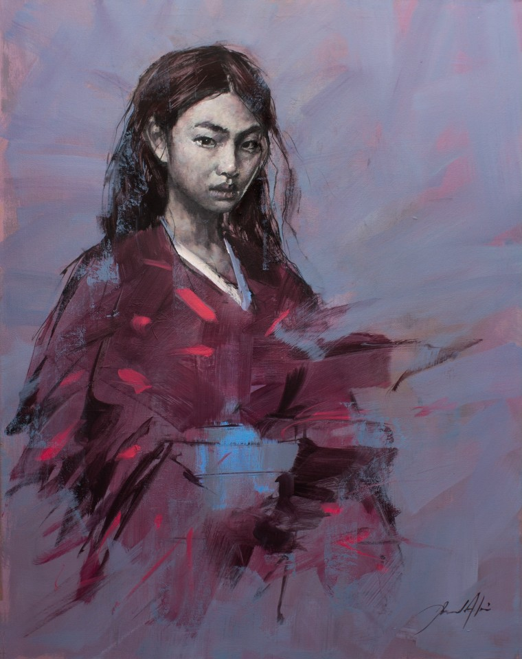Jamel Akib, The Crimson & Black Kimono , 2021
