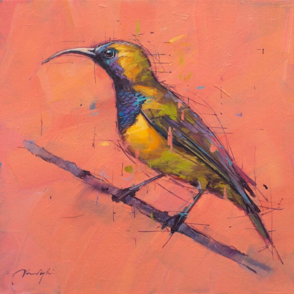 Jamel Akib, Olive Backed Subird, 2018