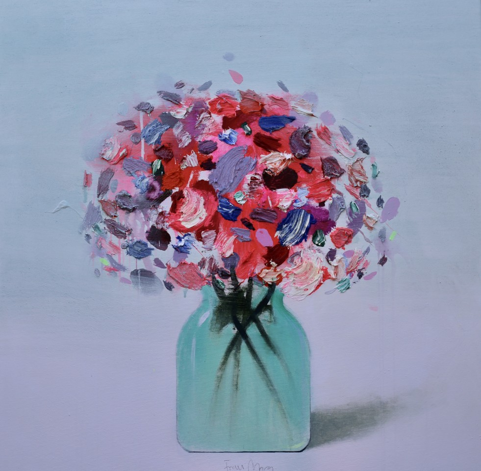 Fran Mora, Pink & Purple Flowers, 2020