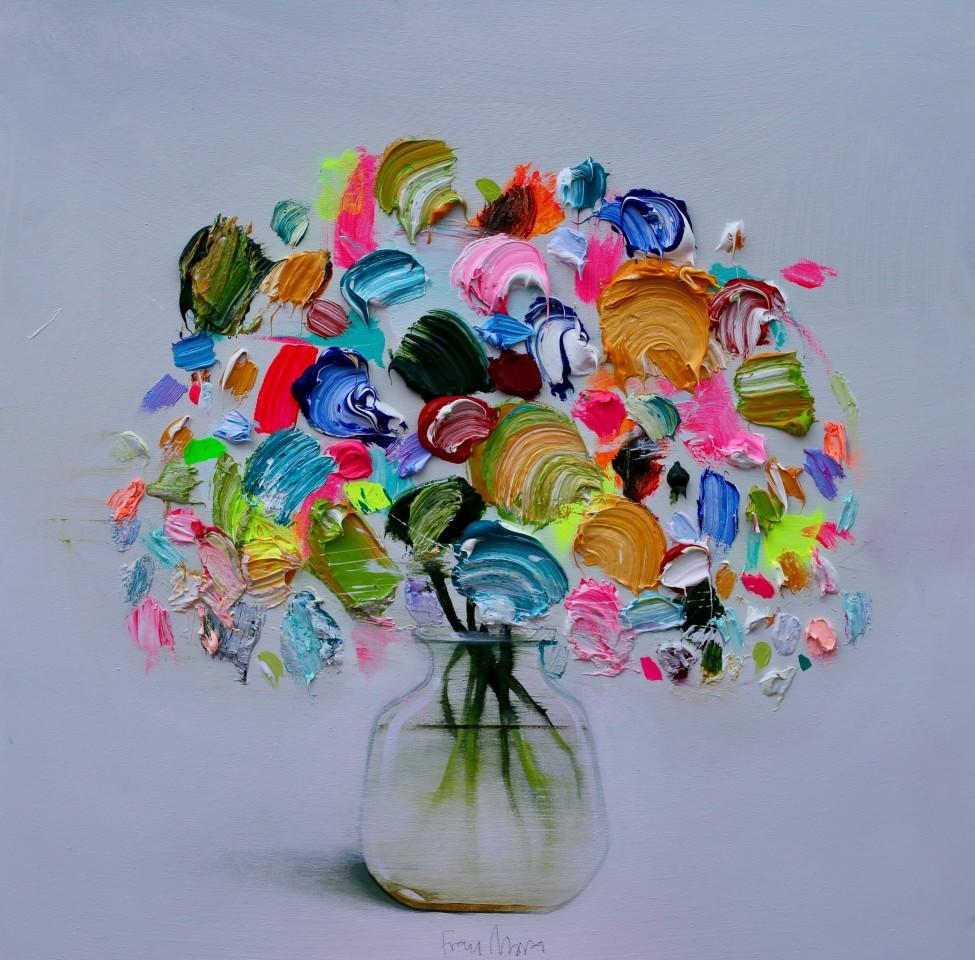 Fran Mora, Vibrant Flowers No.II, 2019
