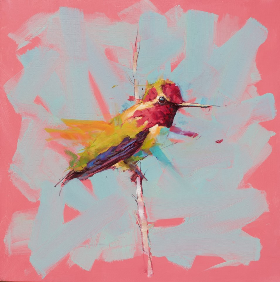 Jamel Akib, Hummingbird - Pink No.2, 2020