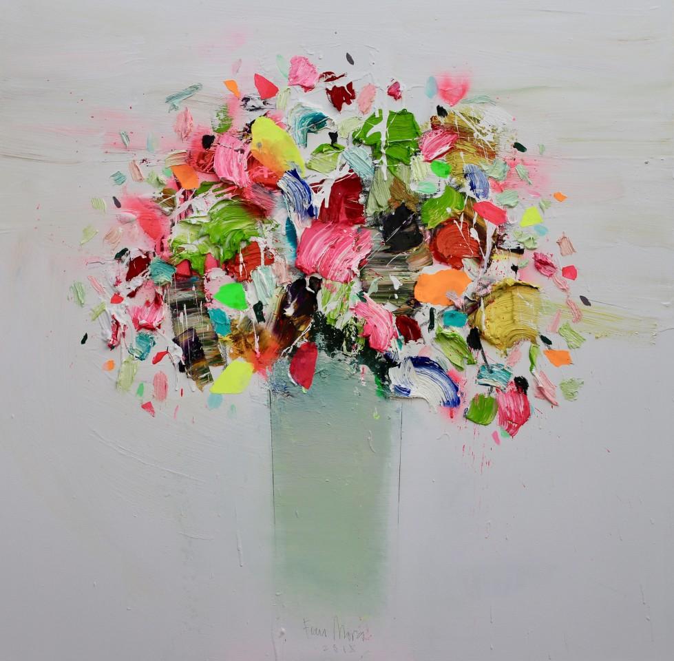 Fran Mora, Vibrant Flowers, 2018