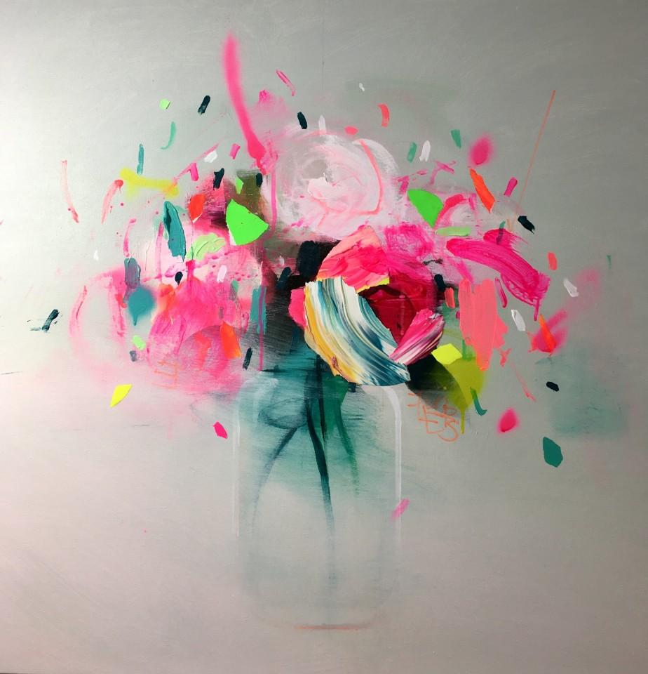 Fran Mora, Neon Flowers, 2017