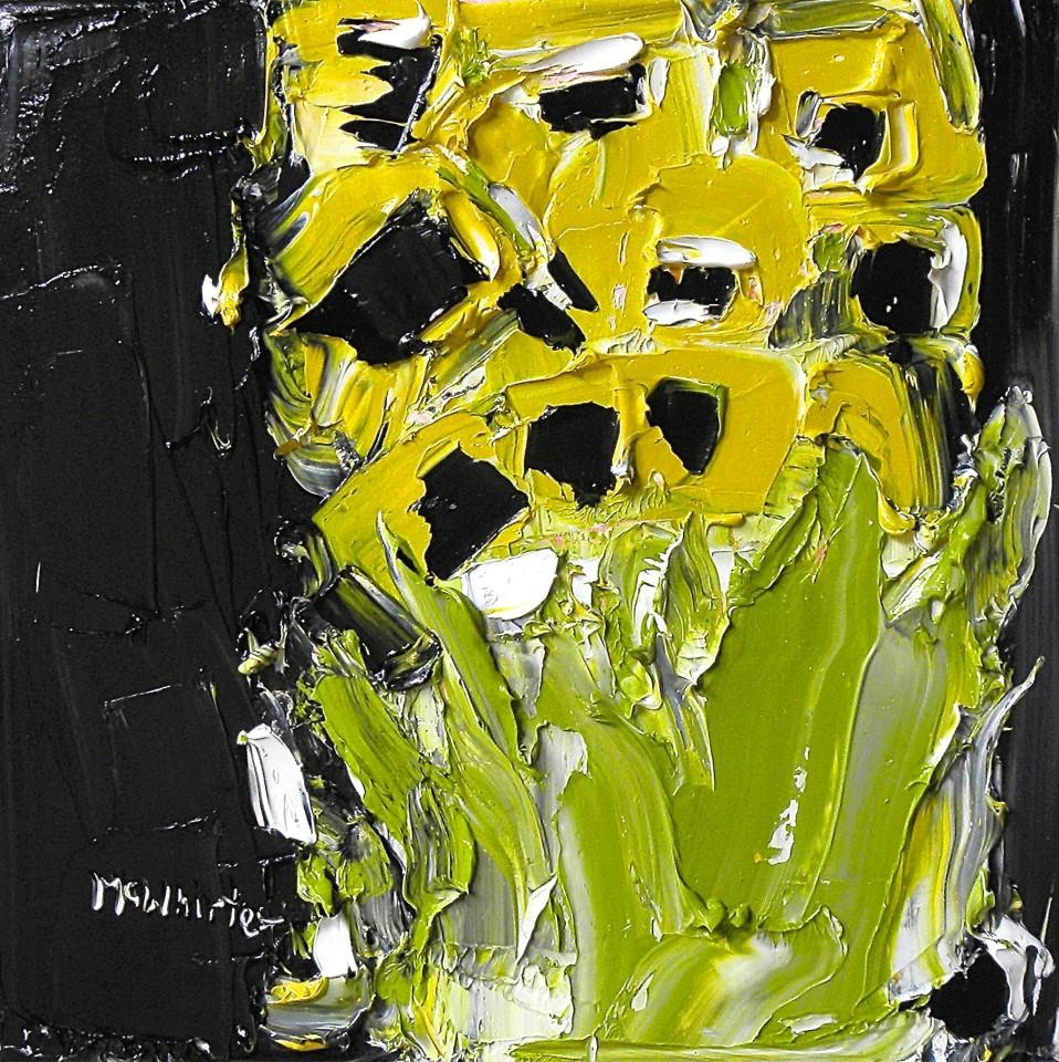 Alison McWhirter, Sunflowers Against Lamp Black, 2019
