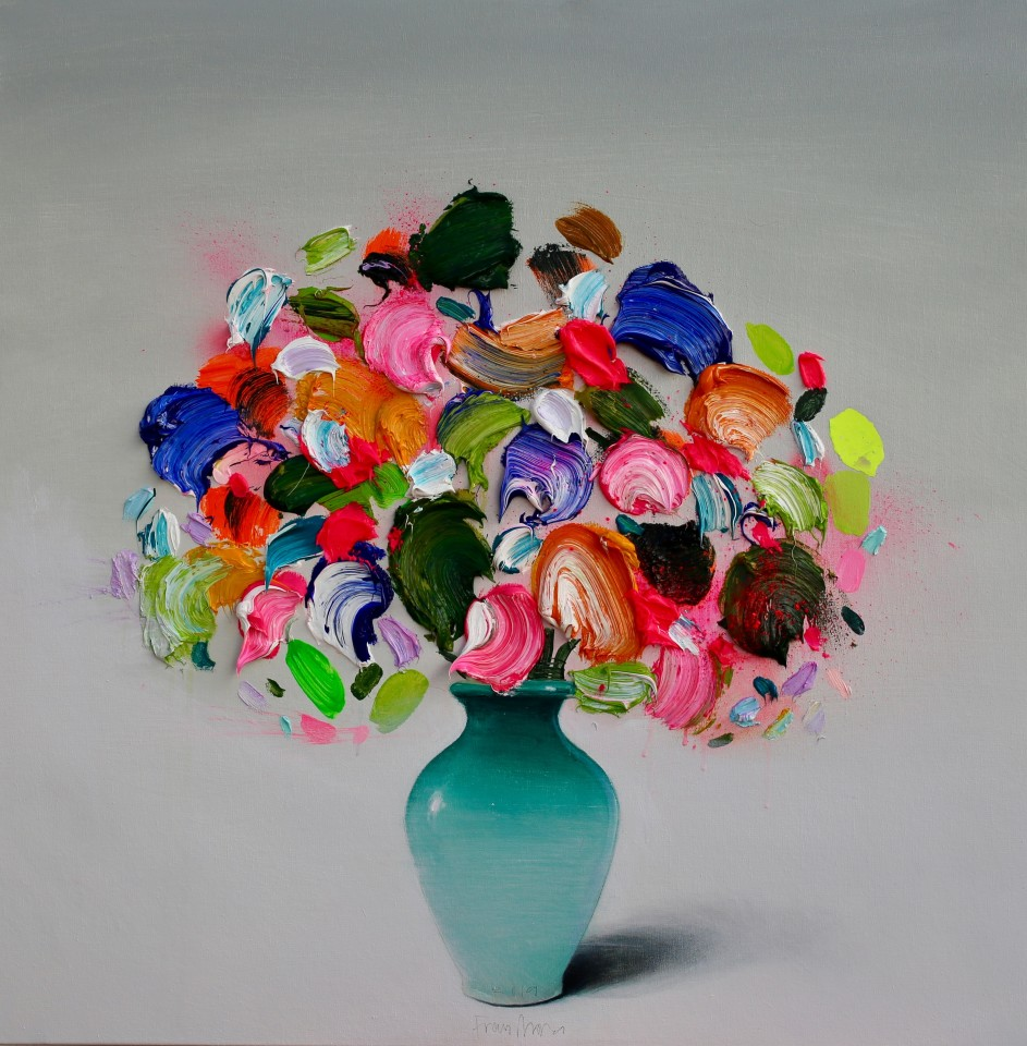 Fran Mora, Textured Flowers (Small), 2019