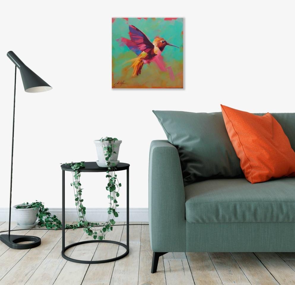 Jamel Akib, Small Hummingbird in Flight No.2, 2020