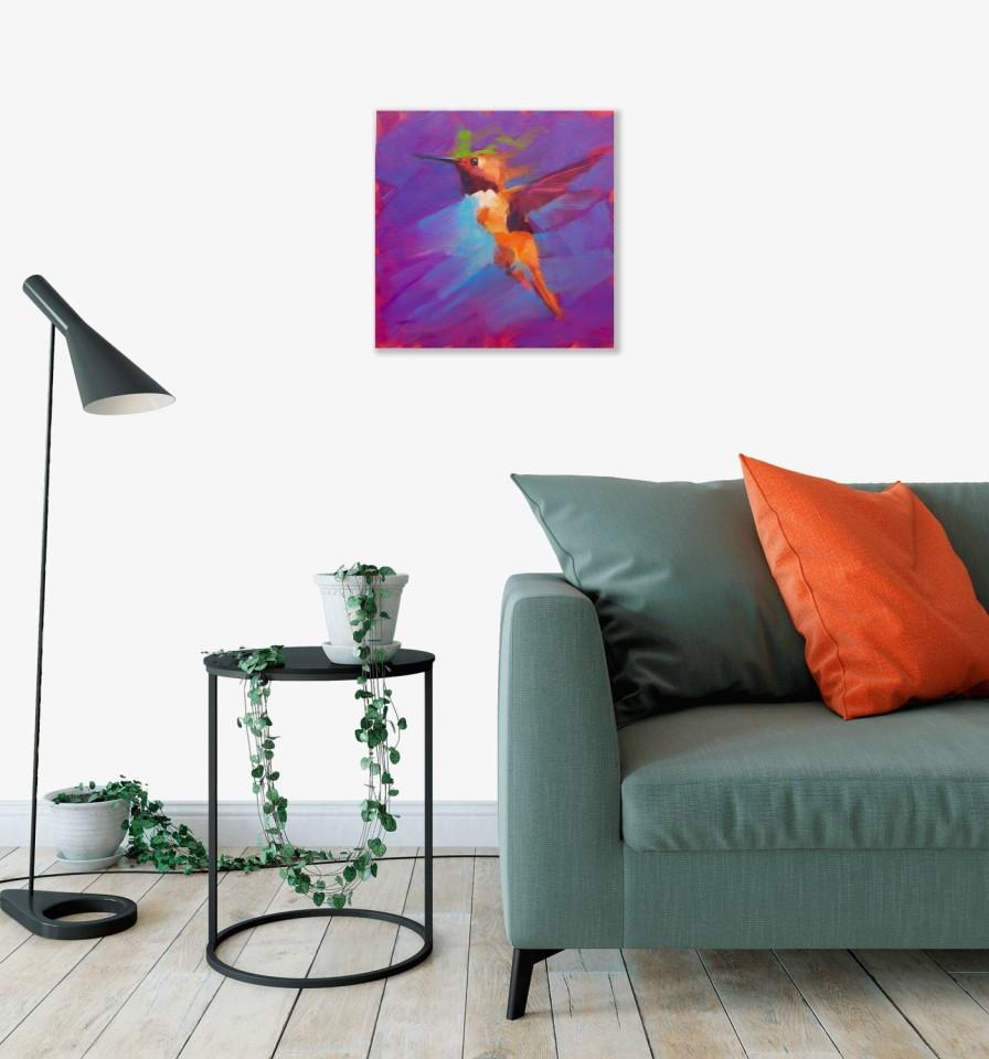 Jamel Akib, Small Hummingbird - Purple No.1, 2020