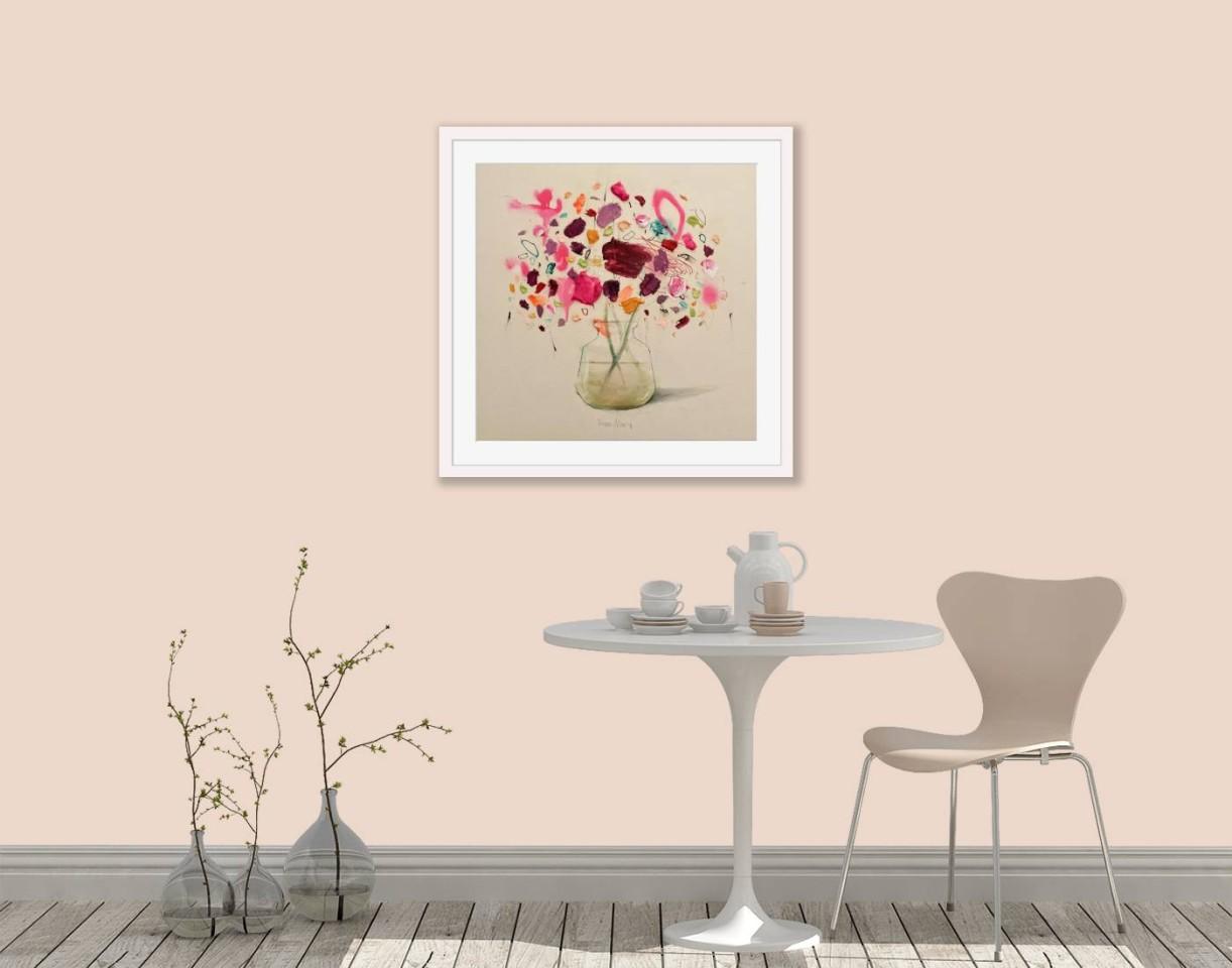 Fran Mora, Pink Flowers on Paper, 2021