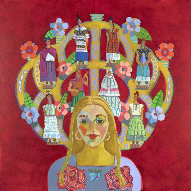 Self Portrait in a Velvet Dress: Frida's Wardrobe on My Mind