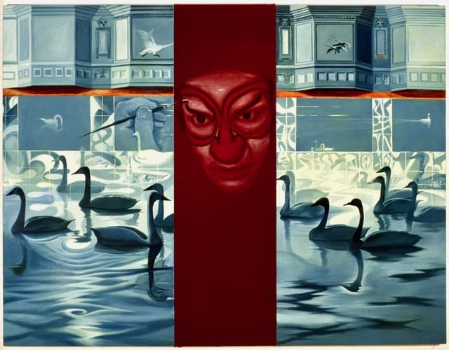 Self Portrait with Swans, 1992-93