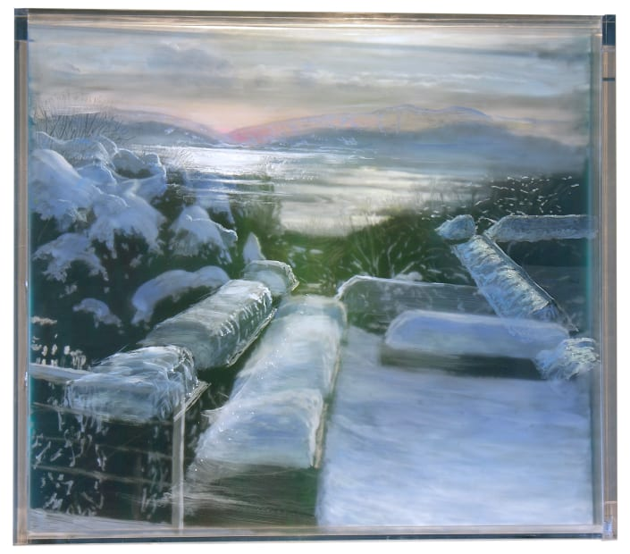 Terrace and River, 4 Winters, 2018