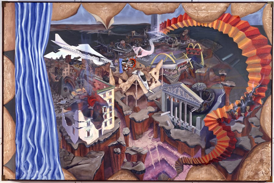 Return to the City, original painting 1985