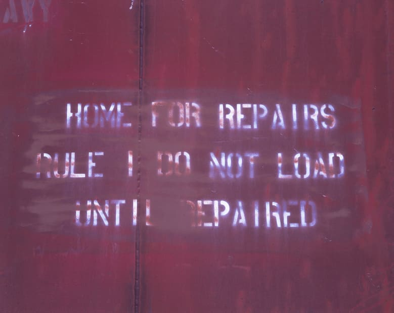 Rail Car, Portola, CA, #28 (Repairs), 2013
