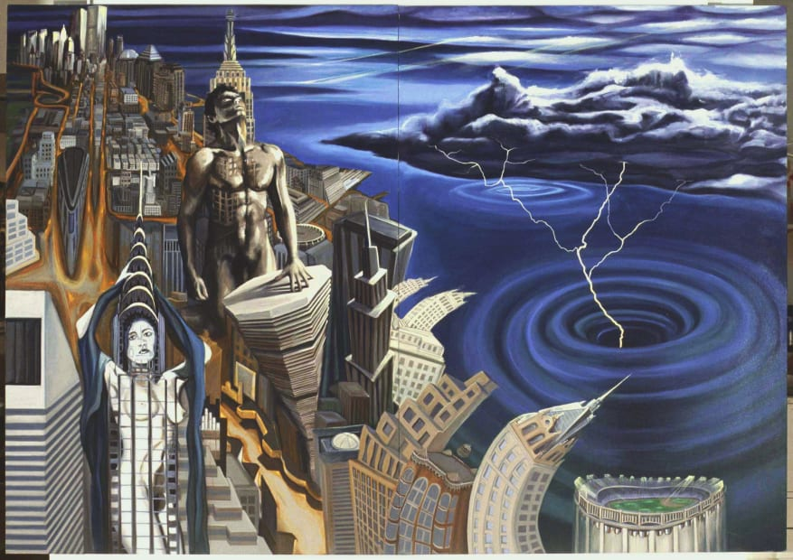 Slaves of The City, original painting 1989