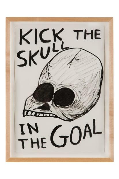 David Shrigley, Untitled (Kick the skull...), 2013