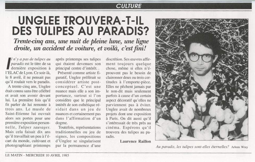 Unglee trouvera-t-il des tulipes au paradis, Paris 1993, 1995