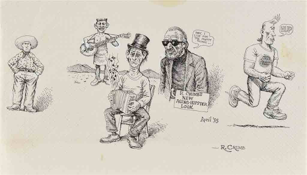 """R.Crumb's new aging-hipster look"""